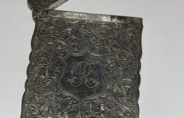 Antique silver William Neale Chester calling card case for sale