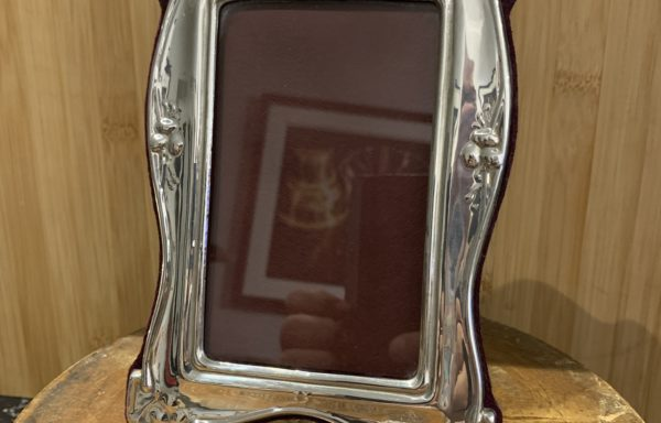 Art nouveau style silver photo frame for sale