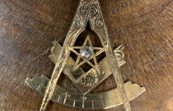 large 9ct gold masonic pendant for sale