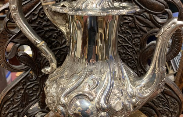 1840 solid Scottish silver hot water pot for sale