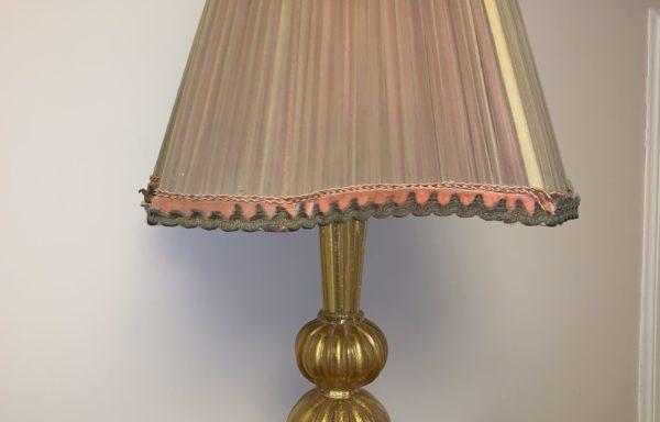 Murano aventurine table lamp  barovier & toso